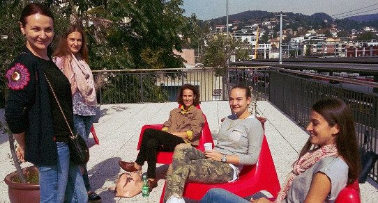 ILI Students on the terrace
