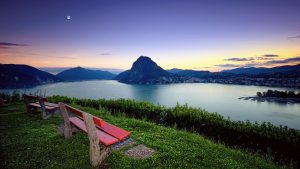 Sunset Lugano Bench